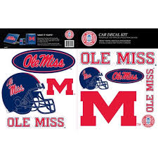 Skinit Ole Miss Rebels Car Decal Kit Walmart Com Walmart Com