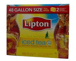 lipton 1 gallon size iced tea bag 48