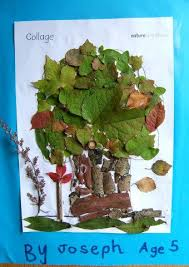 Tree Collage using natural materials. (With images) | Tree collage ...