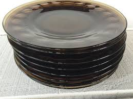 dessert plates vintage 8 inch glass