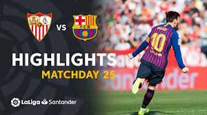 Highlights Sevilla FC vs FC Barcelona (2-4) - YouTube