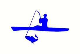 8 Inch Kayak Fishing Vinyl Sticker Decal For Car In 2020 Fish Silhouette Kayak Fishing Fishing Decals