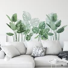Removable Leaves Plant Wall Sticker Vinyl Decal Nursery Home Room Art Mural Diy Ebay