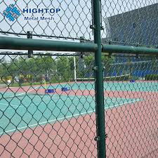 China Galvanized Stainless Steel Pvc Pe Coated Green Vinyl Coated Chain Link Fence China Chain Link Fence Chain Link Wire Mesh