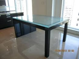 round colored glass table tops coloured