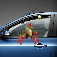 New Car Sticker Vivid 3d Frog Truck Window Decal Funny Graphics Car Body Sticker