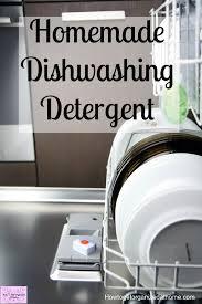easy to make homemade dishwasher detergent