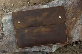 distressed leather macbook case sleeve