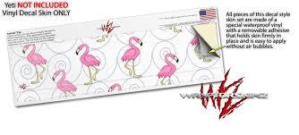 Yeti Rambler Lowball Skin Wraps Flamingos On White Wraptorskinz