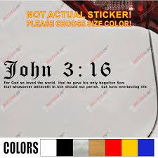Graphics Decals Automotive John 3 16 Vinyl Decal Sticker Car Window Wall Bumper Bible Quote Pslam Jesus God Adrp Fournitures Fr