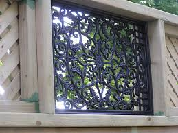 Nuvo Iron Rectangle Decorative Fence Gate Insert Fencing Home More