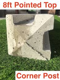 G G 8ft Concrete Slotted Corner Post Pointed Top 01322 787312
