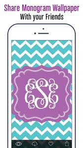 monogram wallpapers pattern by