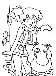 Misty And Pokemon Coloring Page Kleurplaten Pokemon