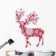 Ornamental Christmas Deer Wall Decal Wallmonkeys Com