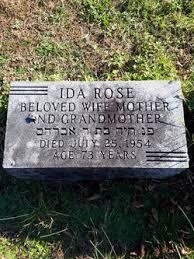 Ida Rose (1882-1954) - Find A Grave Memorial