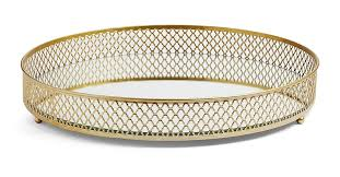 gold mirror tray accessories all