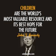 john f kennedy quote about future education children cq