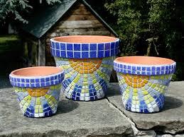 macetas en mosaico mosaic flower pots