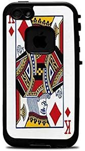 Amazon Com King Of Diamonds Playing Card Vinyl Decal Sticker For Iphone 6 4 7 Lifeproof Case Clothing