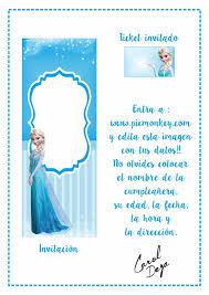 El Taller De Carol Deza Imprimible De La Semana Invitaciones Frozen