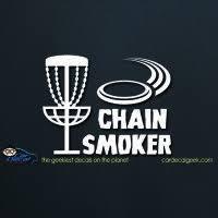 Disc Golf Chain Smoker Decal Sticker Disc Golf Frisbee Golf Discs Frisbee Golf