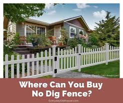 where can you no dig fence
