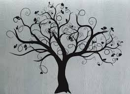Swirly Tree 3 Uber Decals Wall Decal Vinyl Decor Art Sticker Removable Mural Modern A287 Tree Wall Decal Decal Wall Art Tree Mural