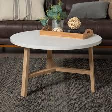 light oak round coffee table