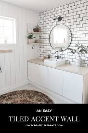 a new bathroom accent wall how to