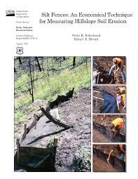 Pdf Silt Fences An Economical Technique For Measuring Hillslope Soil Erosion