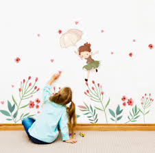Cute Girl Wall Sticker For Kids Room Bedroom Living Room Door Decor Wall Decals Ebay