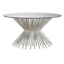 brookland round silver rods coffee table