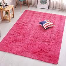 Amazon Com Pagisofe Ultra Soft Area Rugs Girls Kids Bedroom Carpet Nursery Decor Living Room Rug Floor Mat 4 X 5 3 Hot Pink Furniture Decor