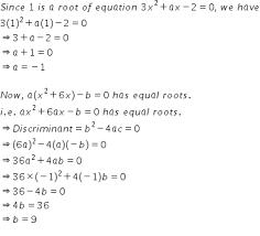 equation 3x 2 ax 2 0 and the quadratic