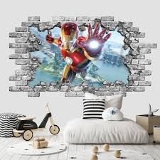 3d Iron Man Wall Decal I Love You 3000 Endgame Wall Decor Etsy