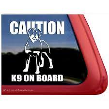Caution K9 On Board High Quality Vinyl Rottweiler Dog Window Decal Walmart Com Walmart Com
