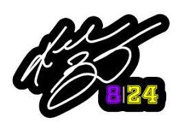 Kobe Bryant 8 24 Autograph Vinyl Sticker Decal Bumper Car 4 Ebay
