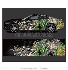 Car Decal Vector Tiger Tattoos Style Stock Vector Royalty Free 1219793488