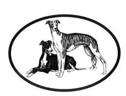 Dog Breed Oval Vinyl Car Decal Black White Sticker Greyhound For Sale Online Ebay