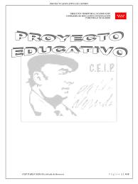 Web Proyecto Educativo 18 19 Pdf Educacion Primaria Educacion