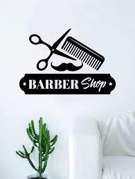 Barbershop Logo V5 Wall Decal Home Decor Art Sticker Vinyl Bedroom Roo Boop Decals