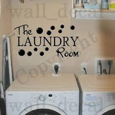 The Laundry Room Vinyl Wall Decal Sticker Decor Quote Bubbles Wash Dry Fold Ebay