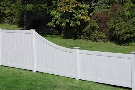 Lexington Swoop Privacy Fence Vinyl Privacy Fence Backyard Fences White Vinyl Fence