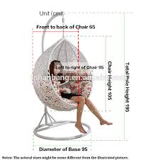 outdoor wicker rattan swing chairs