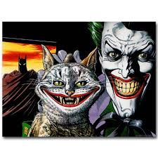 Joker và Kitty Cat Batman Siêu Anh Hùng Truyện Tranh Art Silk vải Poster In  Anime Hình Ảnh Tường Trang Trí Phòng Khách 28|picture for living room|silk  fabric posterposter print - AliExpress