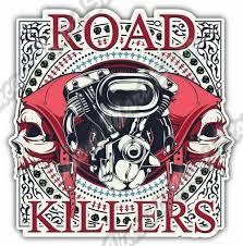Road Killers Biker Chopper Skull Gift Idea Car Bumper Vinyl Sticker Decal 4 X5 For Sale Online Ebay