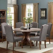 Crown Mark Vesper Dining Dining Set With Round Table Dunk Bright Furniture Dining 7 Or More Piece Sets