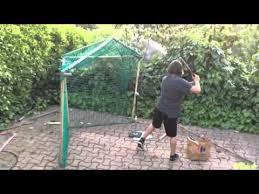 home made paper baseball batting cage 1