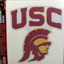 Usc Trojans Sd 8 Perforated Window Film Decal University Of Southern California For Sale Online